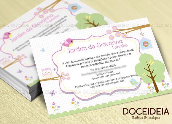Convite Jardim Encantado Convite Jardim Convite Jardim
