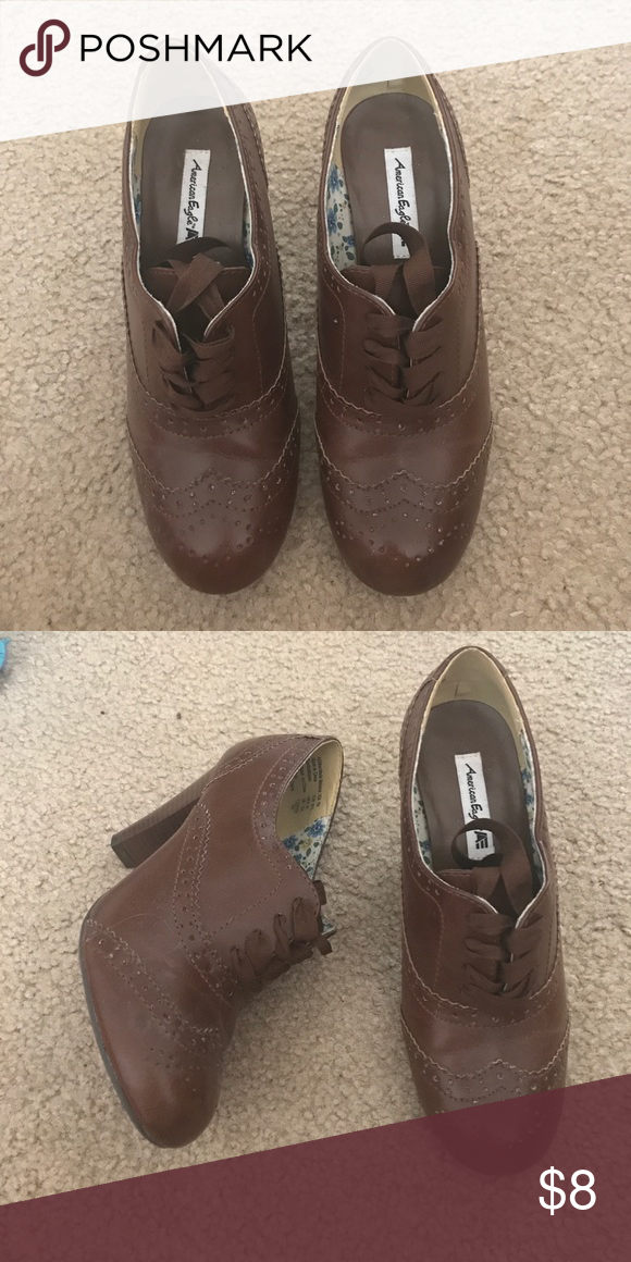 f8058dc23812 American Eagle for Payless heeled booties American Eagle for Payless brown  heeled