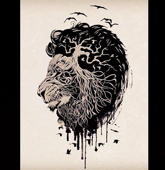 Lion Tattoo Sketch