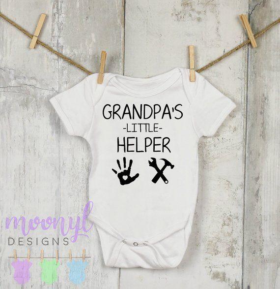 Grandpa's Little Helper, Baby Onesie®, Fathers' Day