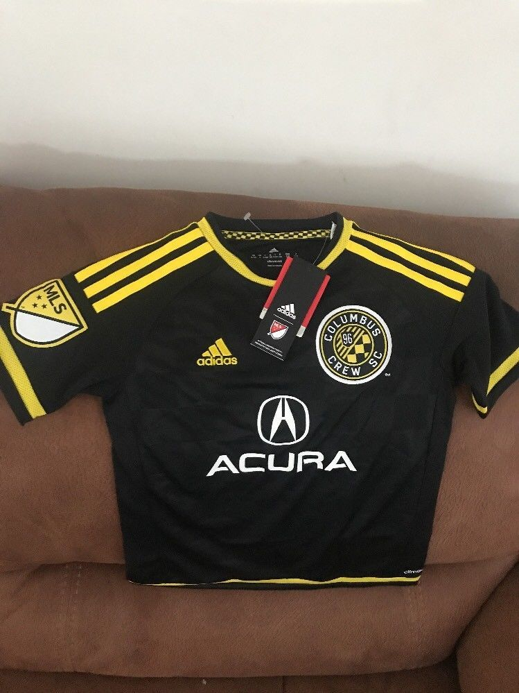 Adidas Columbus Crew Sc Mls Soccer Jersey NWT Size Small Youth 889132414035   9340982c3