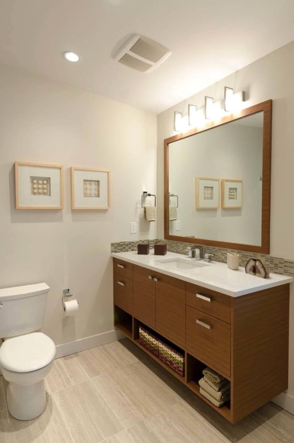 37 amazing mid century modern bathrooms to soak your - Mid century modern double bathroom vanity ...