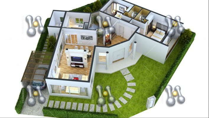 3d Floor Plans Two Bedroom House Plans In 2018 Pinterest