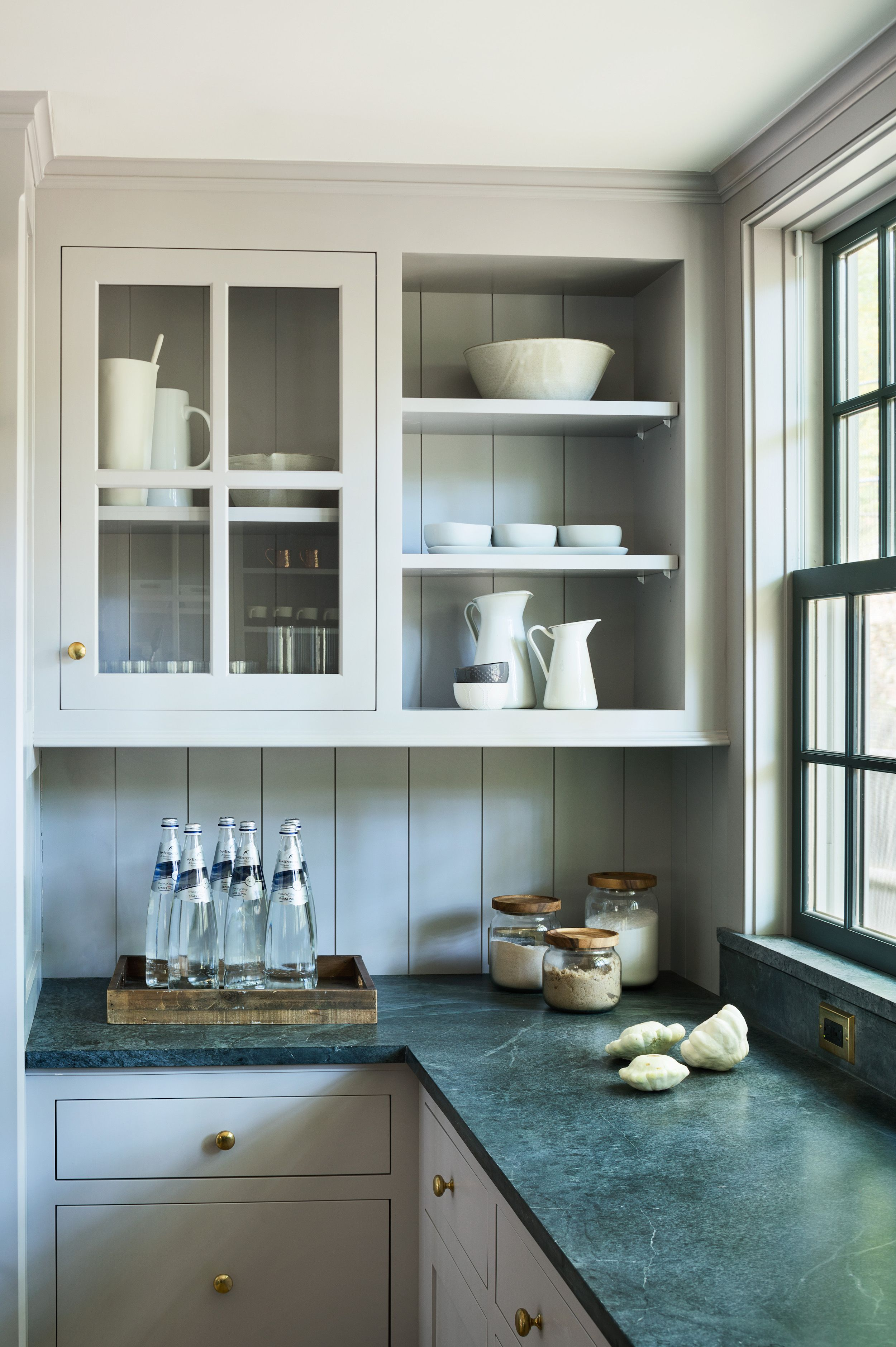 A Renovated Farmhouse In Bedford Ny With Scandinavian Influences Remodelista Farmhouse Style Kitchen Cabinets Soapstone Kitchen Kitchen Cabinet Styles