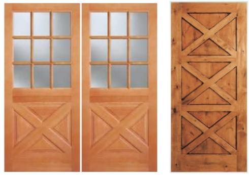 Genial Crossbuck Front Door