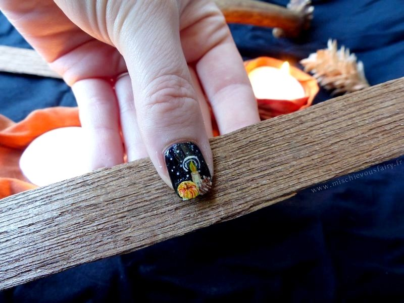 Celebrating Mabon and autumn with a nailart!