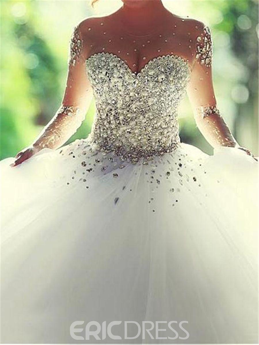 23866facab2b Ericdress Luxury Sweetheart Beading Ball Gown Wedding Dress | Pretty ...