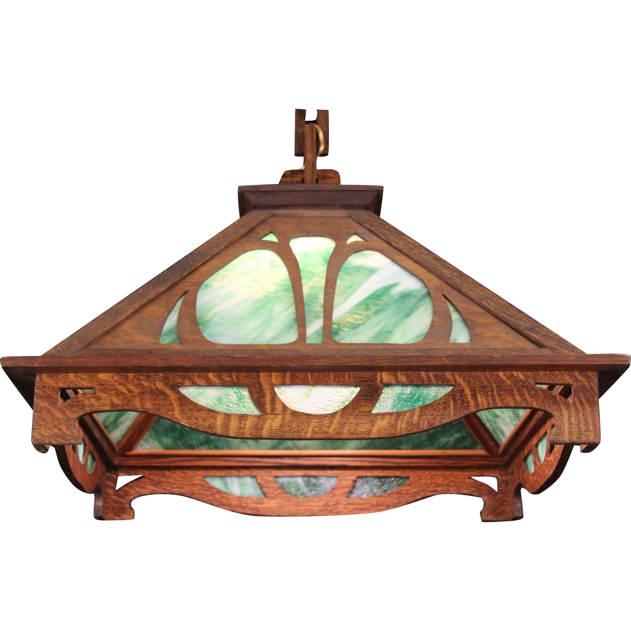Arts crafts mission oak 1905 stained glass pendant chandelier arts crafts mission oak 1905 stained glass pendant chandelier light fixture arubaitofo Gallery