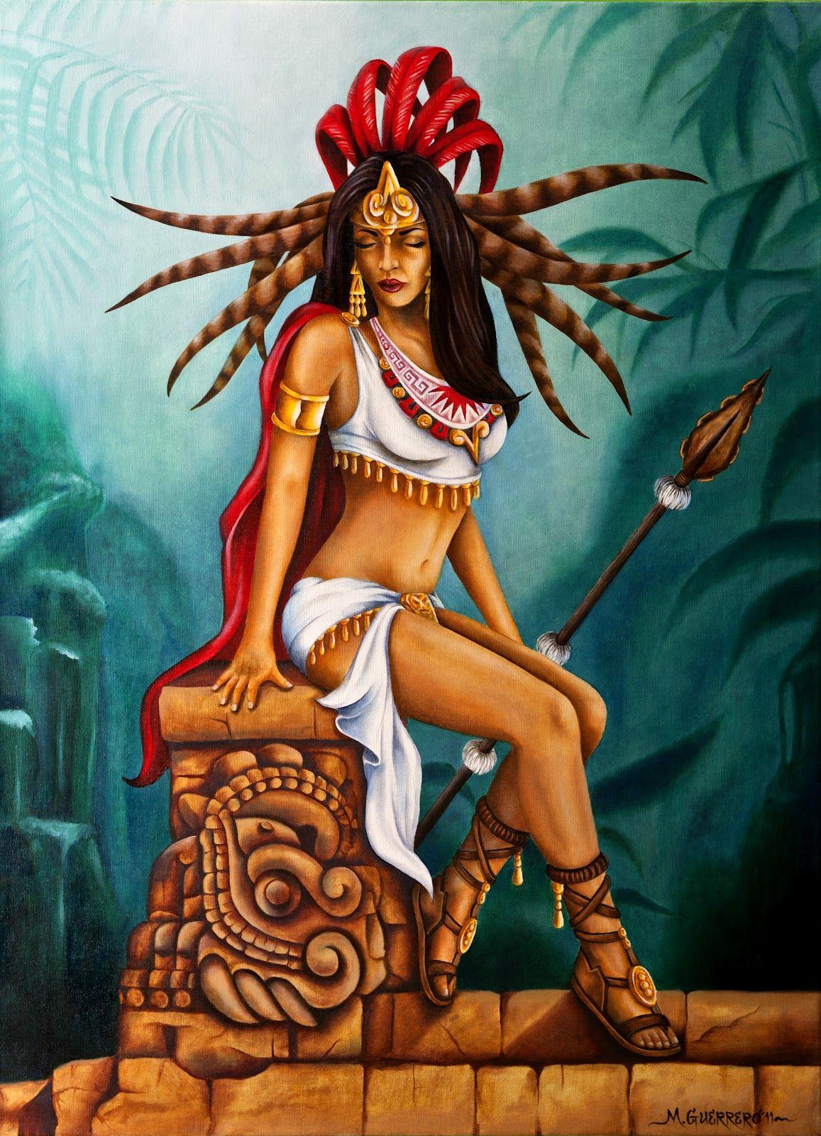Cartoon aztec girl nude