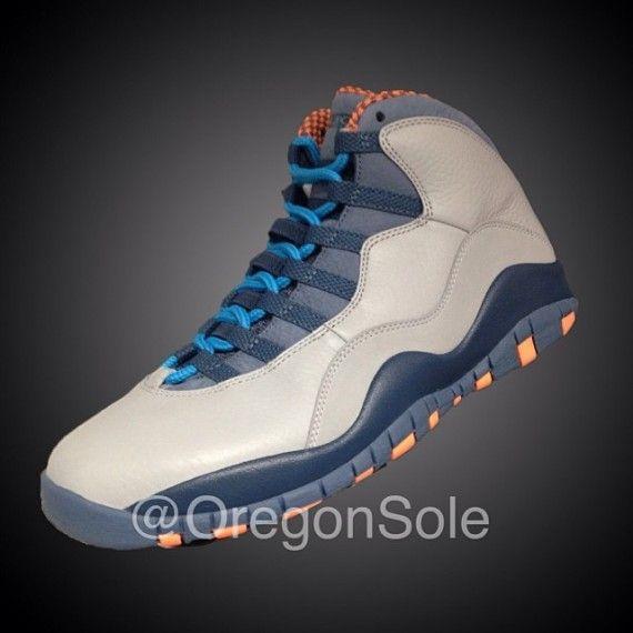 7c4df68a1b94 Air Jordan 10 - Grey - Blue - Orange
