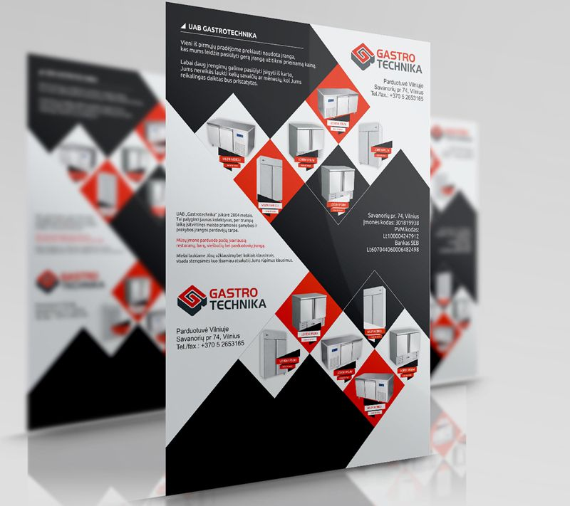 black, white, and red square themed catalog design by Mindux692 on ...