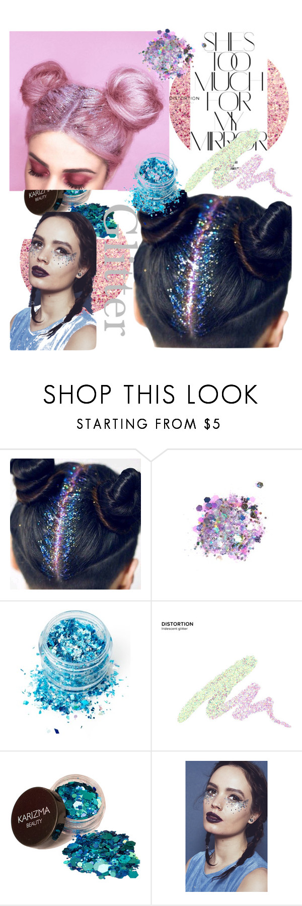 """""""Glitter Hair!"""" by lenaaa12 ❤ liked on Polyvore featuring Rika, The Gypsy Shrine, In Your Dreams and Urban Decay"""