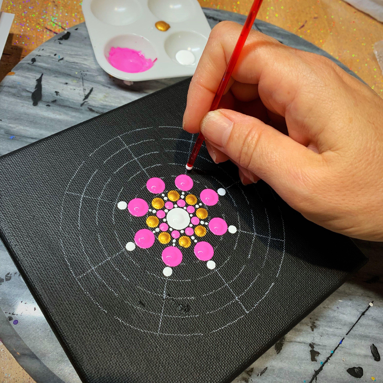 Sm 8 Segment Mandala stencil #mandala