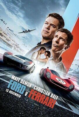 Ford Vs Ferrari Poster 24 X 36 2019 Silk Poster Fashion Home Garden Homedcor Postersprints Ebay Link In 2020 Christian Bale Matt Damon Ferrari Poster