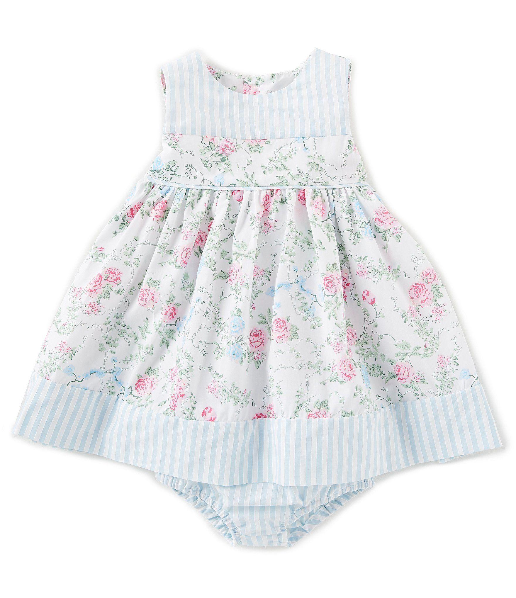 3ce78d9253 Edgehill Collection Baby Girls 3-24 Months Floral Stripe A-Line Dress