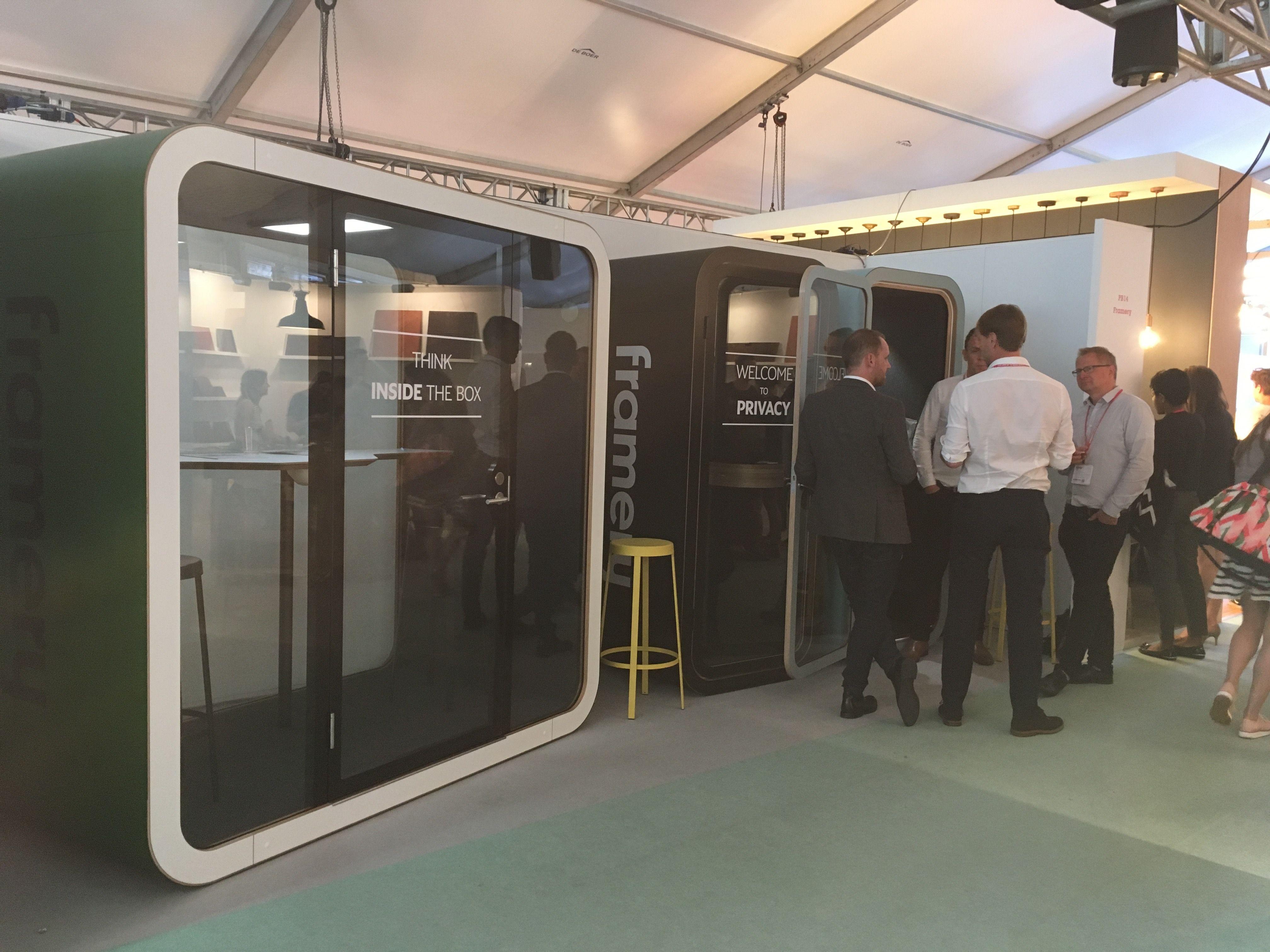Framery Q Booth at Clerkenwell Design Week 2017 #CDW2017  #clerkenwelldesignweek #framery #frameryuk