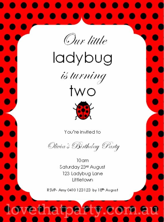 Little Ladybug Printable Party Invitation Love That Party Www