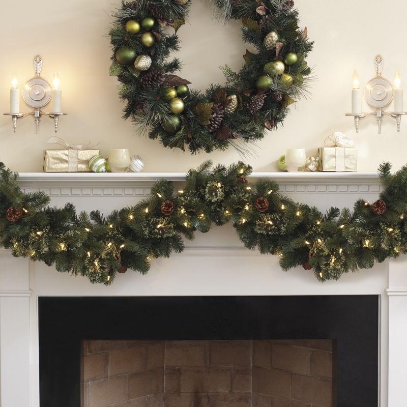 Kirkland Signature 9ft (2.7 M) beautifully 90 LED Pre-Lit Christmas Garland