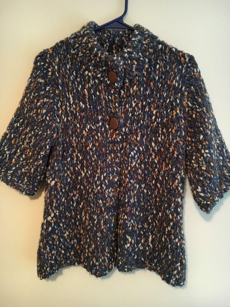 88a95e61f Liz Claiborne Petite Medium PM Marled Cardigan Sweater Button Front ...