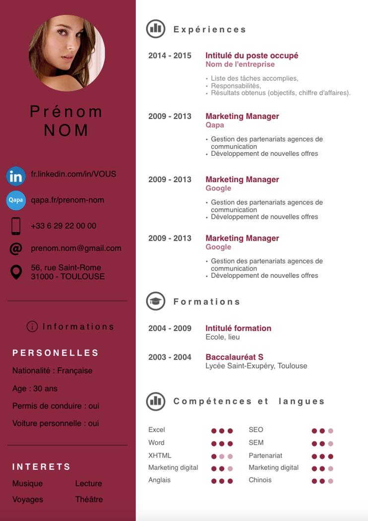 Exemples de CV modernes gratuits (Nouveau !) Exemple cv