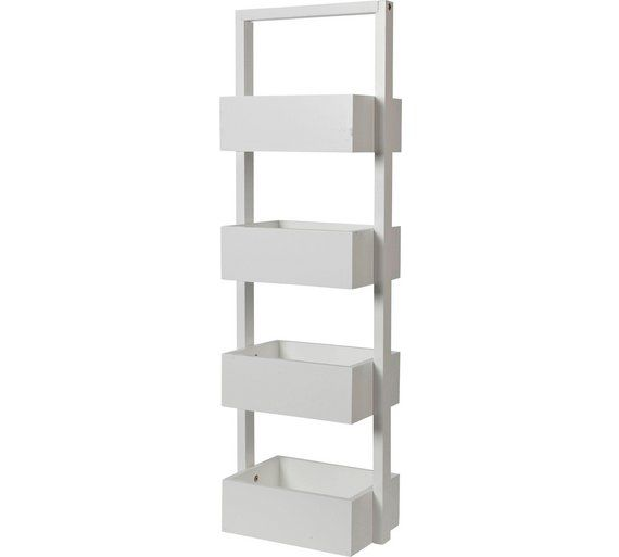 Buy Collection Freestanding Bathroom Storage Caddy - White at Argos ...