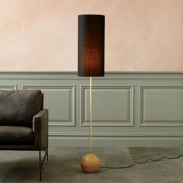 Rejuvenation stand floor lamp 7 base narrow shade white oak rejuvenation stand floor lamp narrow westelm mozeypictures Gallery
