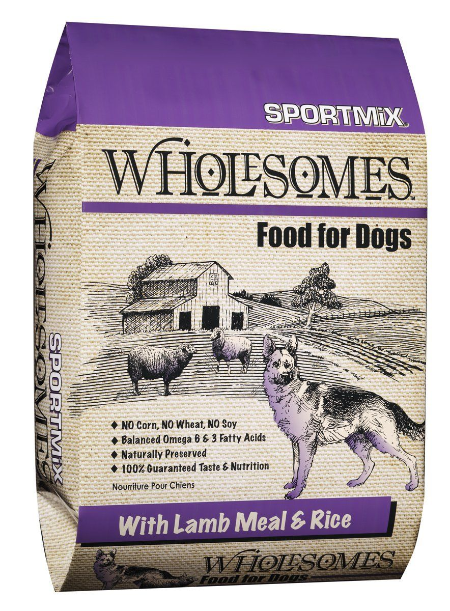 Sportmix Wholesome Lamb Meal And Rice Formula Dry Dog Food 40