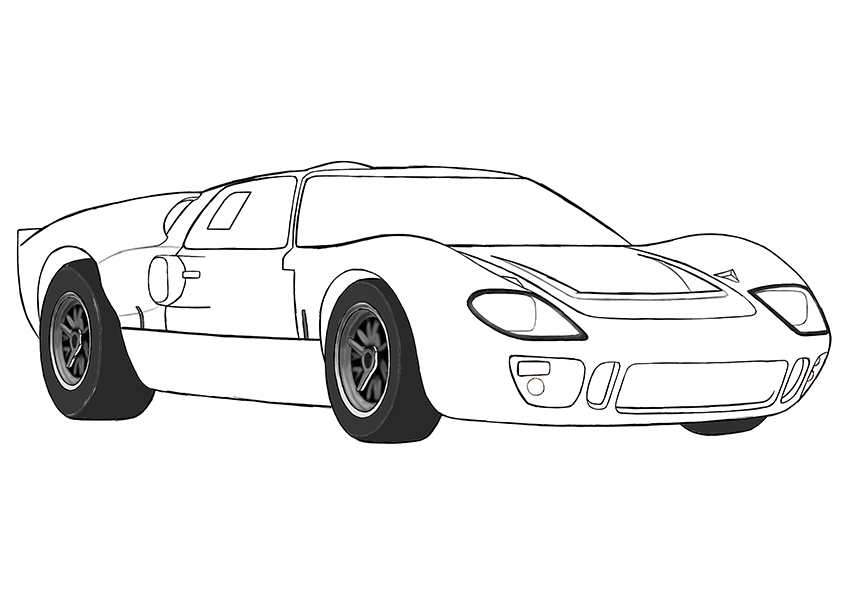 Ford Gt 40 Coloring Page Coloring Books Ford Gt Ford Coloring Pages