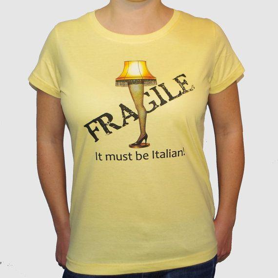 Fragile Leg Lamp Women\u0027s TShirt A Christmas Story by LifestyleT Fa