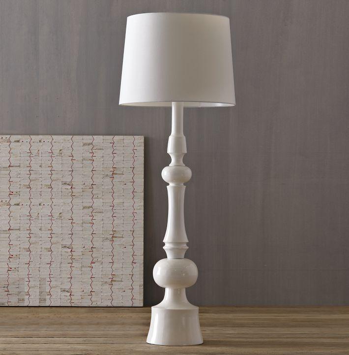 Turned Floor Lamp West Elm Wood White