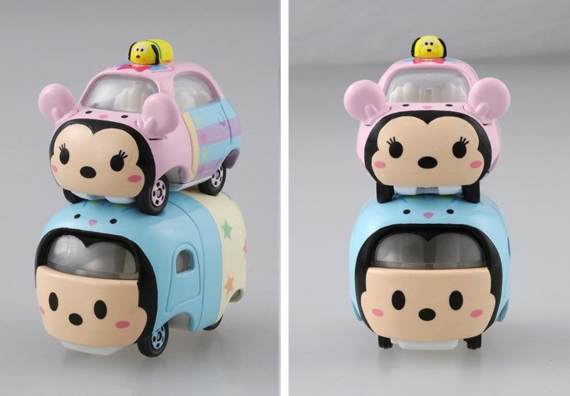 Just in time for the Spring season, Takara Tommy is releasing a new Spring Disney Motors Tsum Tsum set.  The new set features three different Tsum Tsums (Mickey, Minnie and Pluto) in three different sizes.  Look for the new Toy/Collectible later this month in select Disney Stores in Japan for 1,728