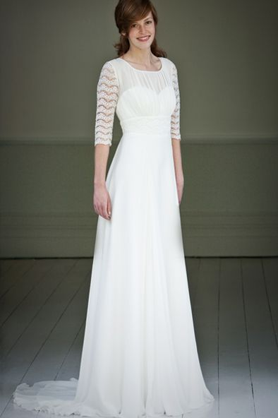 Lily - lovely lily is made from antique white georgette with ...