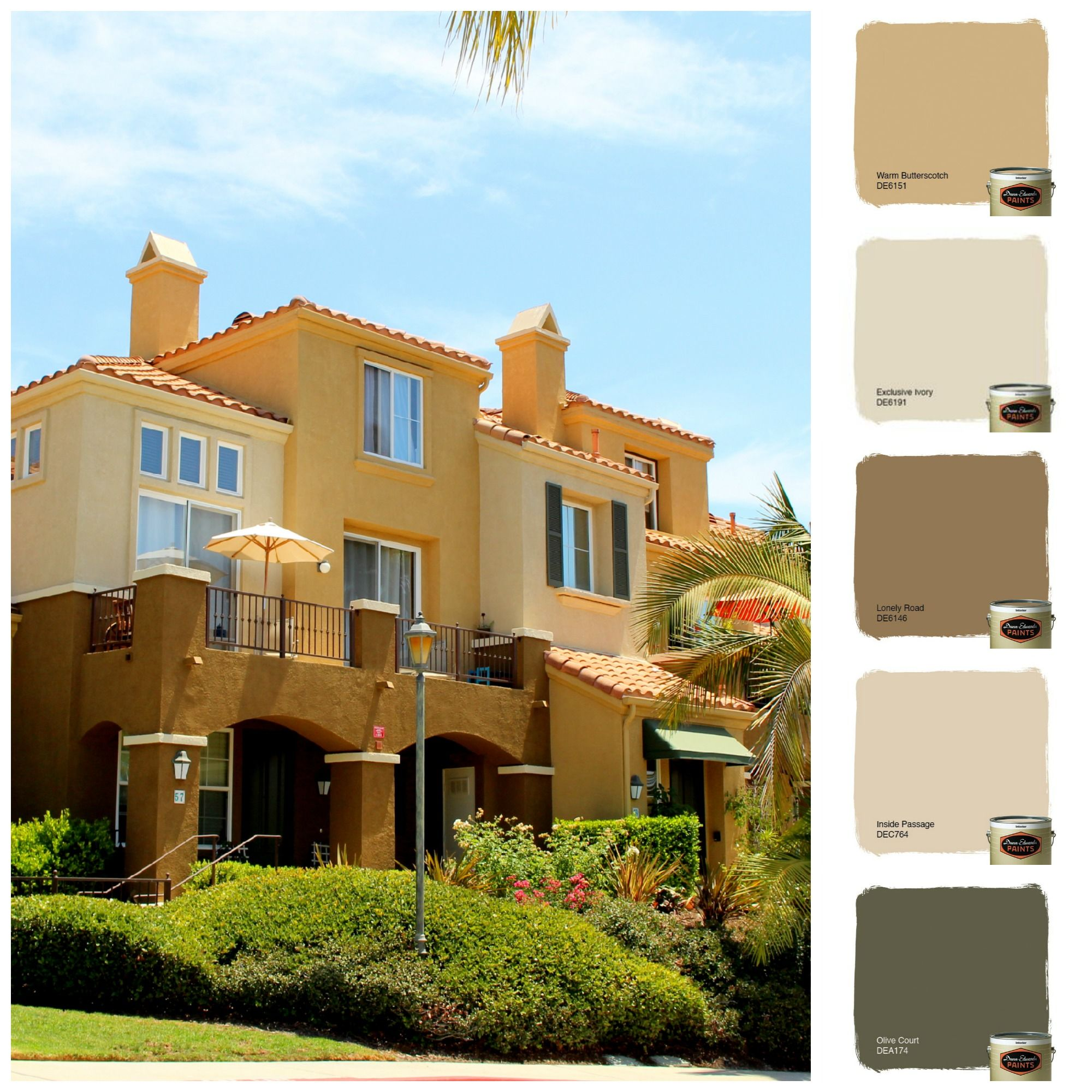 Color scheme 1 that we did at corte melina out in rancho - Dunn edwards paint colors exterior ...