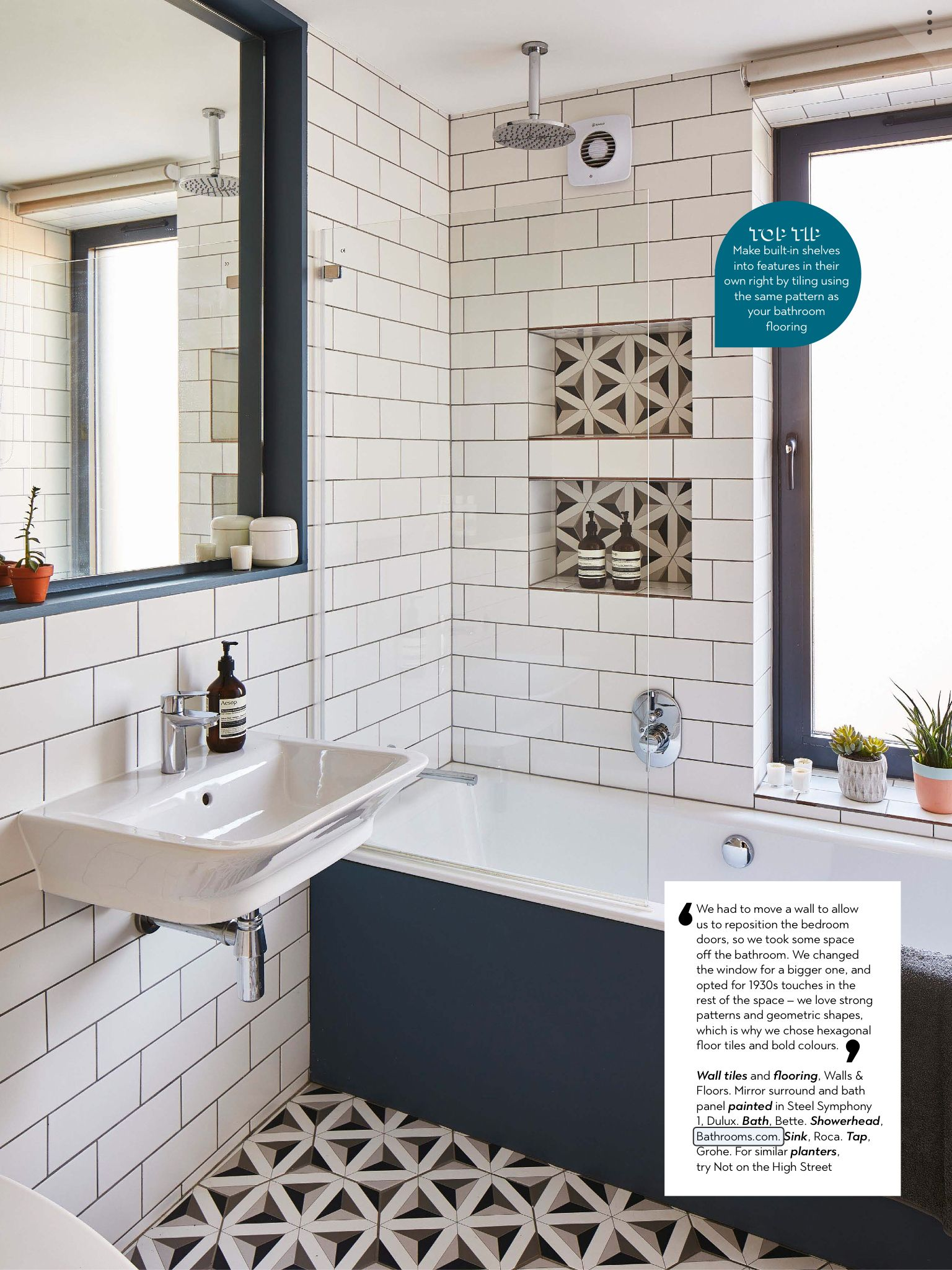 Built In Shelves With The Same Tile As Flooring Interieur