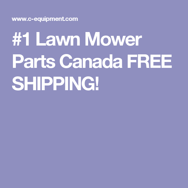 1 Lawn Mower Parts Canada Free Shipping Lawn Tractor