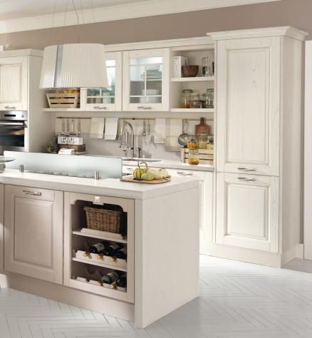 Laura - Classic Kitchens - Cucine Lube Glass on island | Kitchen ...
