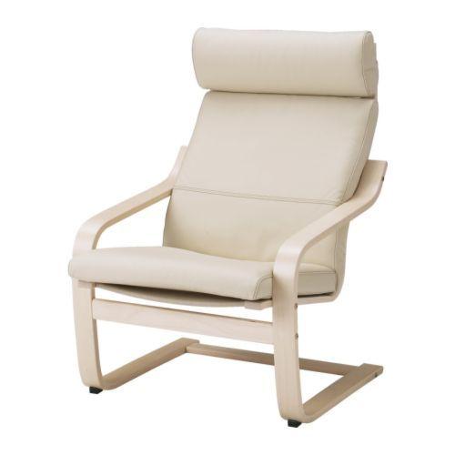 Poang Chair Cushion Glose Off White Ikea Fatoljer Skinn Fatoljer Ikea Ikea