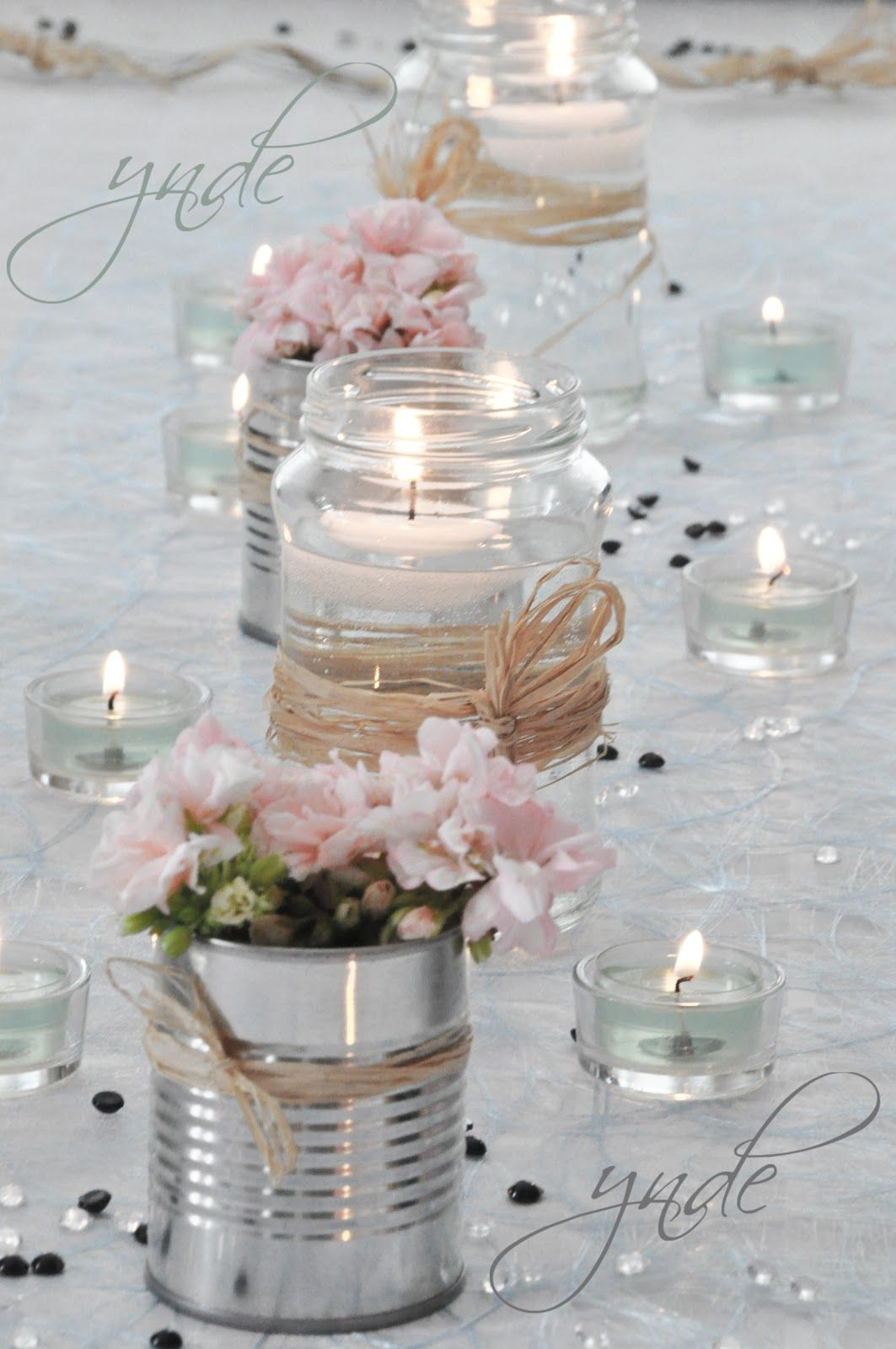 Centros De Mesa Para Boda Economicos Y Originales Con Velas Simple Aber Schöne Tischdeko Simple Inexpensive And