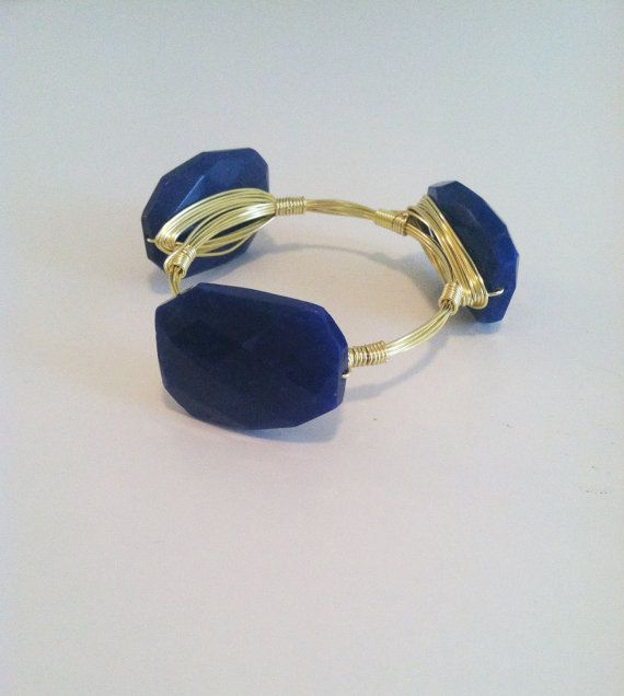 NEW  The Dover  gold wire wrapped bangle with large by SOHbangles, $29.00
