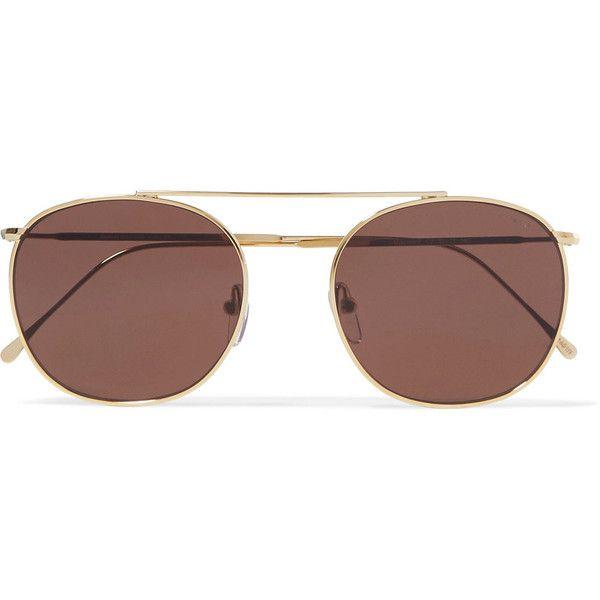 2c7814117575c3 Illesteva Mykonos II round-frame gold-tone sunglasses (€155) ❤ liked