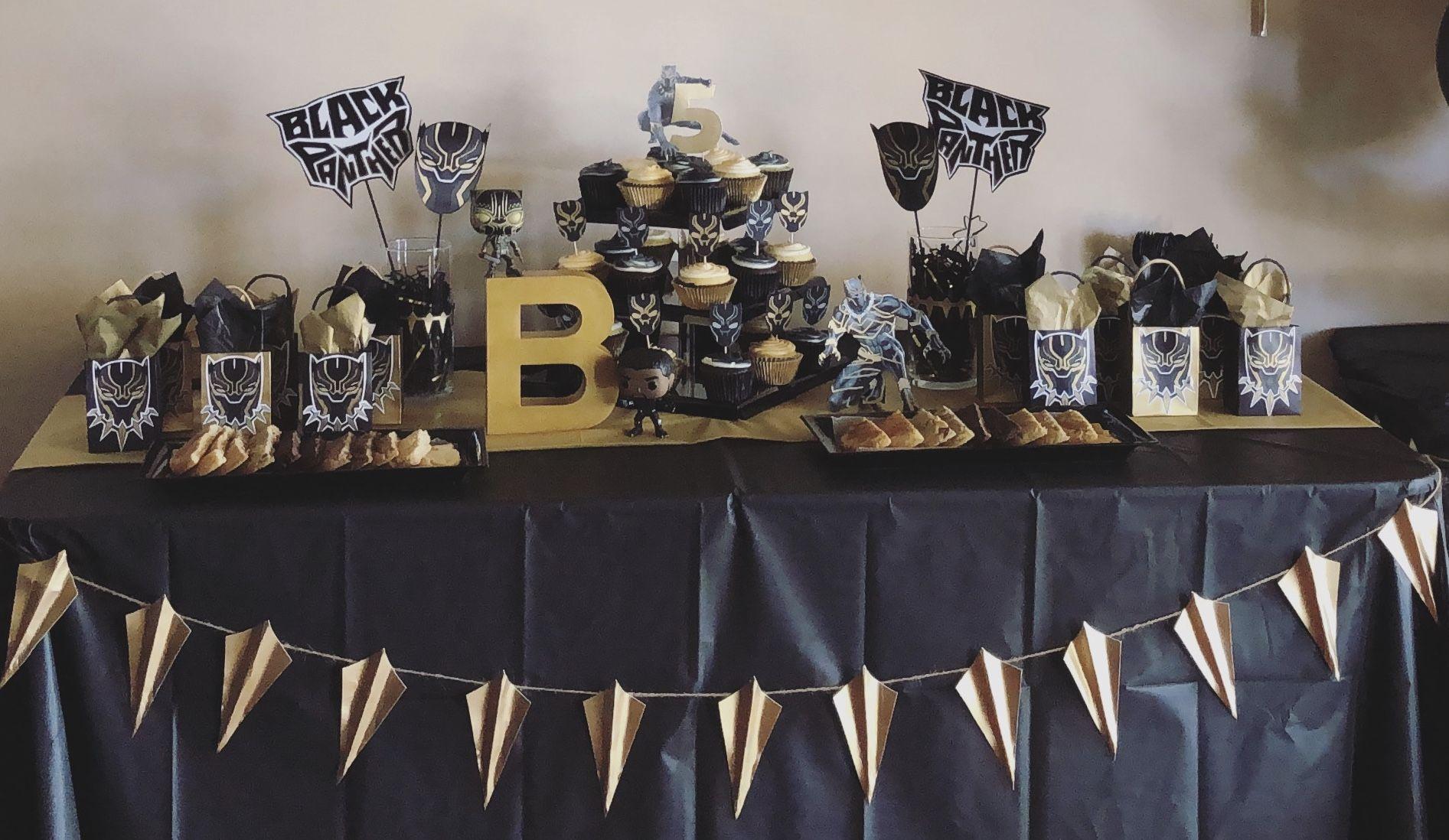 Black Panther Birthday Table Black Panther Party Black Panther Black Panther Birthday Party