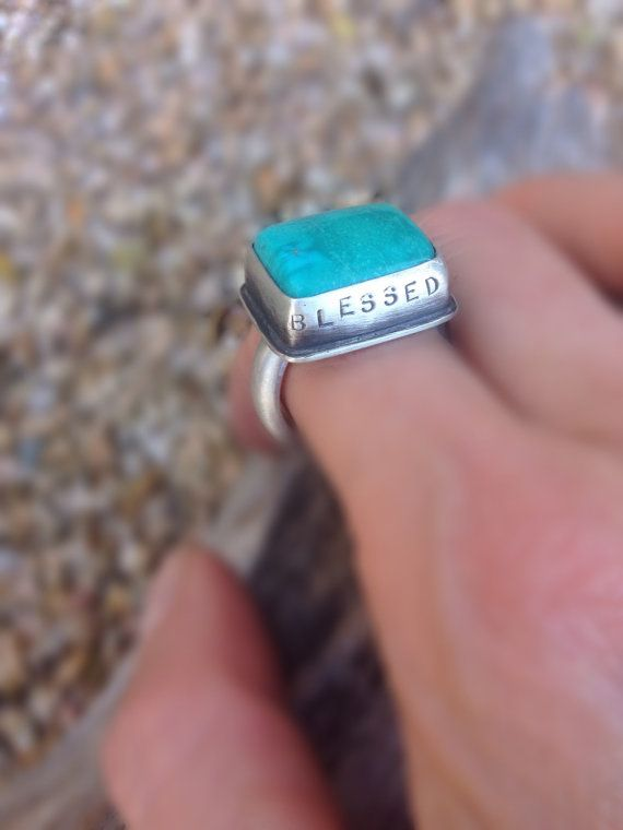 Handmade sterling silver ring with Kingman turquoise by Sisters of the Sun®. $142 #sistersofthesun #turquoise jewelry. http://etsy.me/1FpC66m
