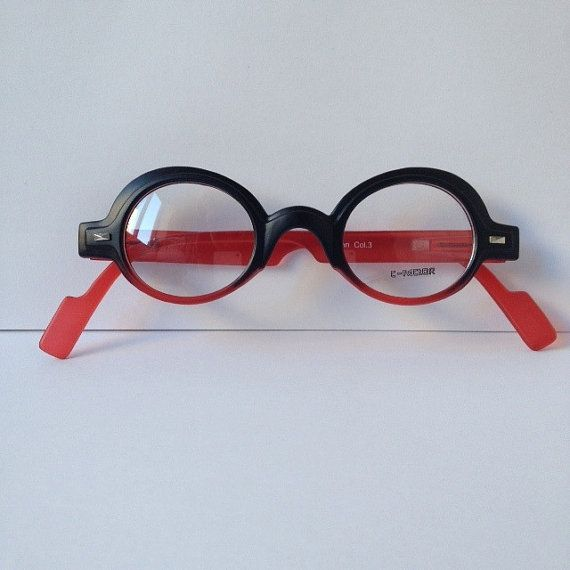 d02becd2e8 Designer Optical Frames or Reading Glasses   Matte Black   Red Frame  Red  Temples   Plastic Round Frames  Demo Lenses