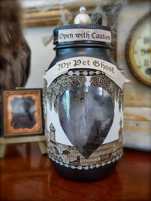 PennyWise Pet Ghost in a Jar - this will be an adorable favor for - halloween jar ideas