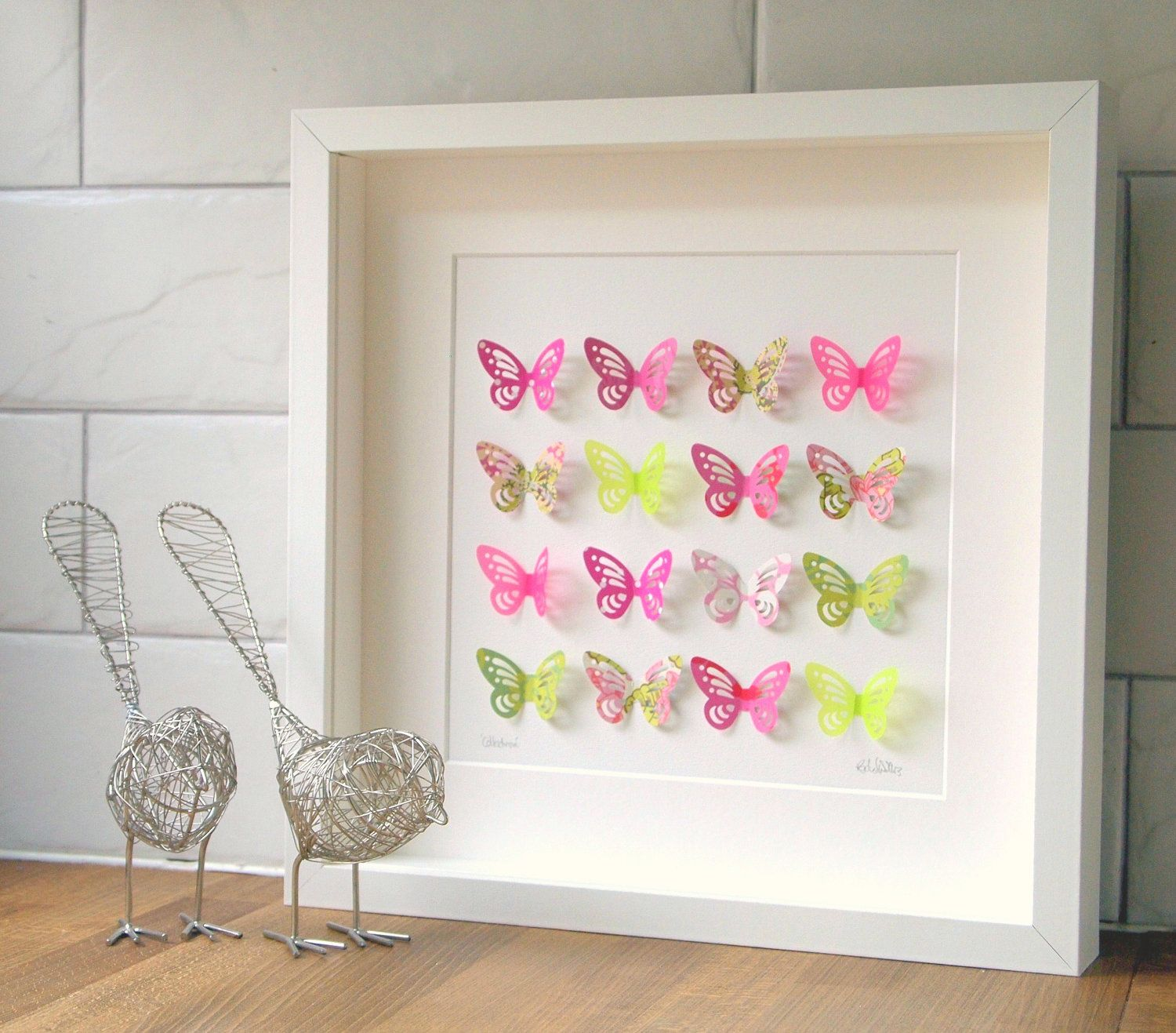 Spring Pink And Green Butterfly Collection Baby Girl Roomsgirl