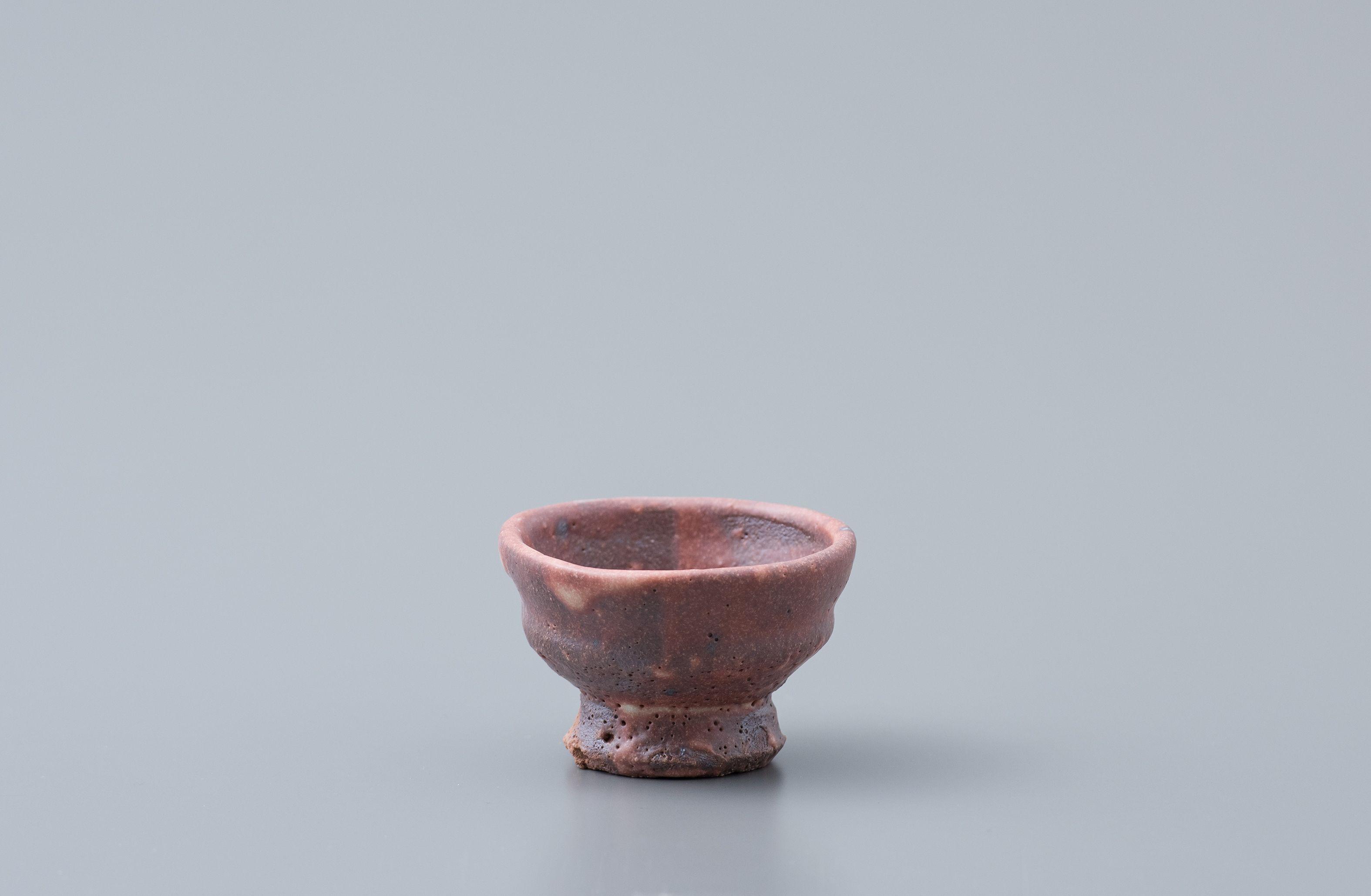 """Ken Matsuzaki, Sake cup, shino glaze, Stoneware, 2 x 2.75 x 2.75"""", MK962"""