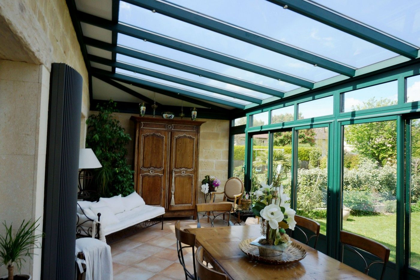 Véranda de style, à l'ancienne, classique, victorienne, traditionnelle   Veranda aluminium ...