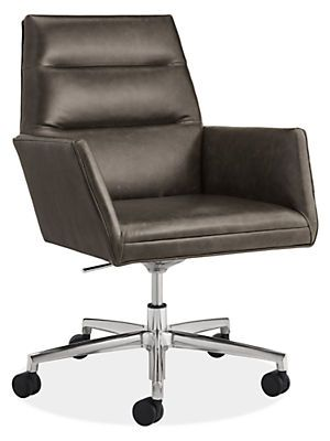 Room Board Tenley Leather Office Chair Modern Office Chairs Task Chairs Modern Office Furniture Modern Office Chair Office Furniture Modern Modern Leather Chair