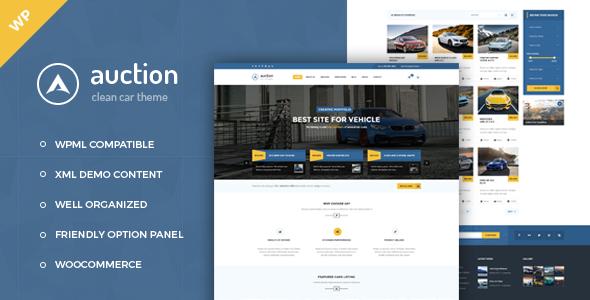 Auction - Car Dealer WordPress Theme . Auction – Car Dealer ...
