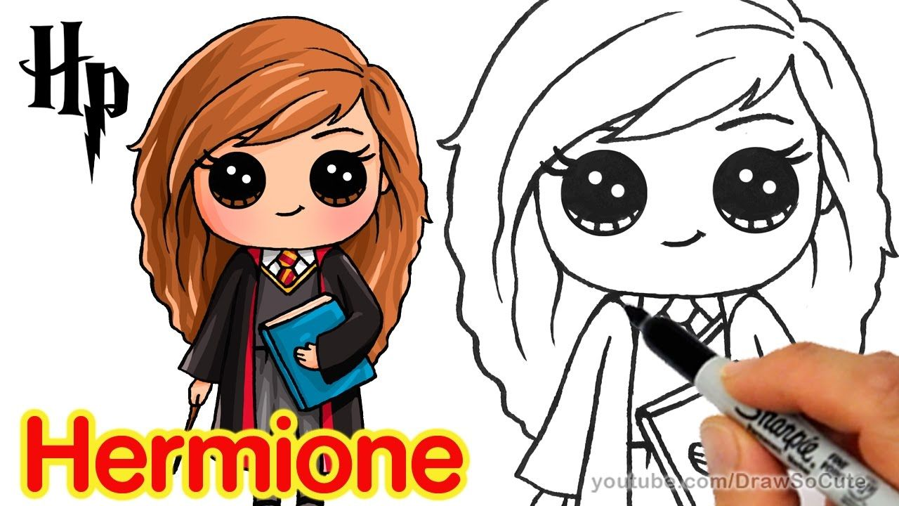 Follow Along To Learn How To Draw Hermione Granger From J K